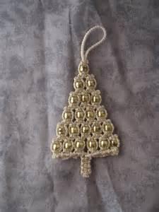 macrame ornament christmas tree gold