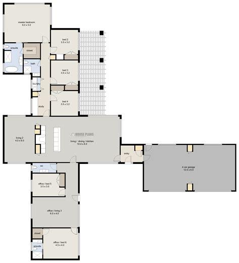 six bedroom floor plans lifestyle 1 6 bedroom house plans zealand ltd