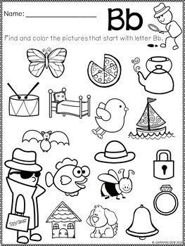 alphabet worksheets beginning sound worksheets