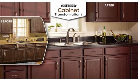cabinet refinishing kit before and after rust oleum cabinet transformations