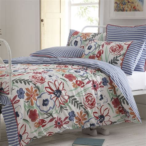 floral duvet cover seasalt st ives painterly floral duvet cover from palmers