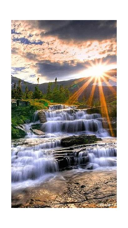 Landscapes Waterfalls Natural Nature Morning Foursquare Landscape