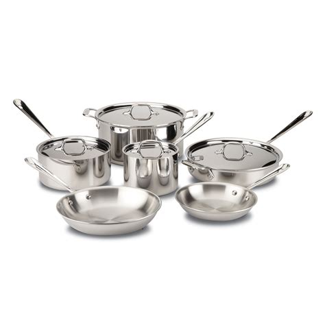 clad tri ply stainless steel  pc cookware set