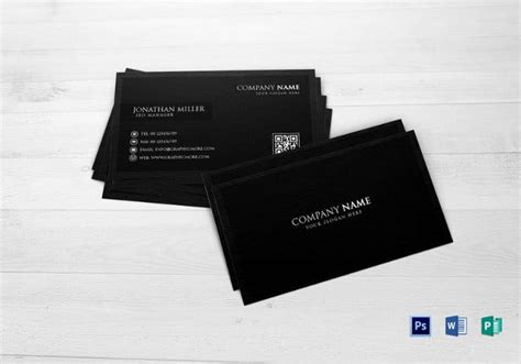qr code business card identity mockups psd