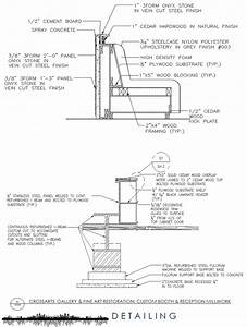 Section Detailing of Custom Reception Millwork (AutoCAD