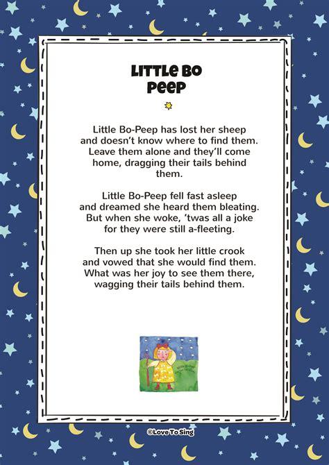 bo peep nursery rhyme   al wegwerth