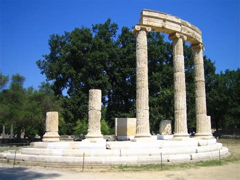 antique coat macedonia documents the philippeion ancient olympia