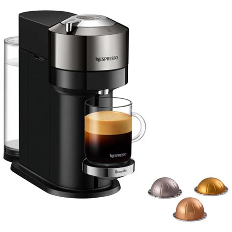 Fully automatic machine uses a revolutionary new brewing technology for traditional italian espresso beverages and classic american coffee. Nespresso Vertuo Next Deluxe Espresso Machine by Breville - Dark Chrome | Best Buy Canada
