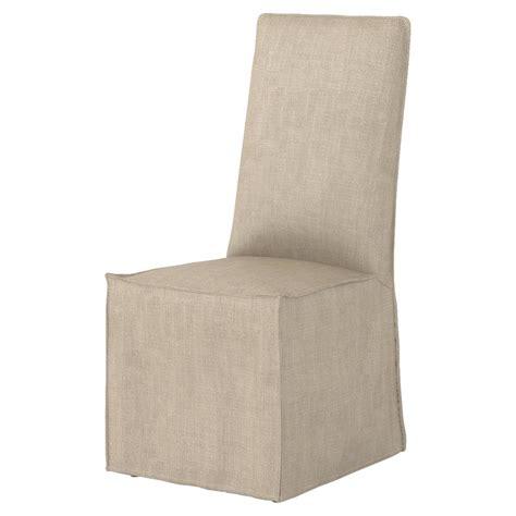 lena modern classic light linen slipcover dining chair