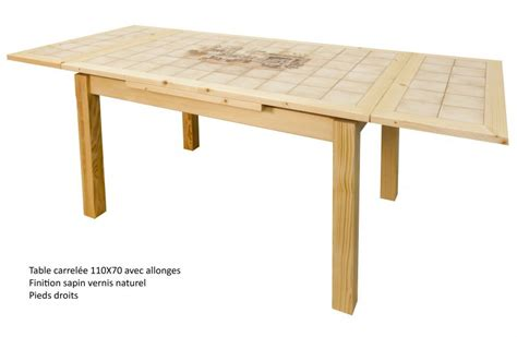 table de cuisine carrelee table rectangulaire carrel 233 e avec 2 allonges made in fabrication artisanale