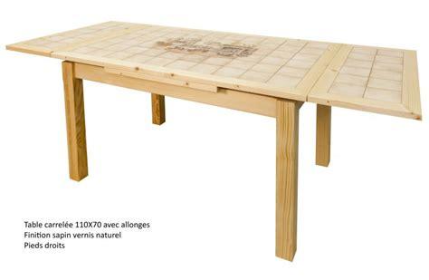 table de cuisine carrel馥 table de cuisine carrelee 4 table rectangulaire carrel233e avec 2 allonges made in digpres