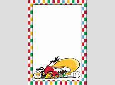 Marcos, Invitaciones, Tarjetas o Etiquetas de Angry Birds