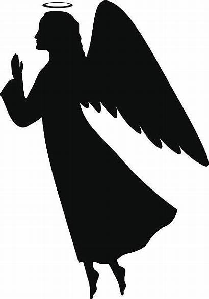 Angel Silhouette Vector Clipart Praying Clip Christmas