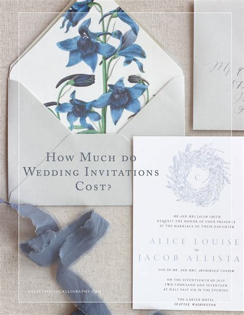 How Much Do Cost by How Much Do Wedding Invitations Cost Kelsey Malie