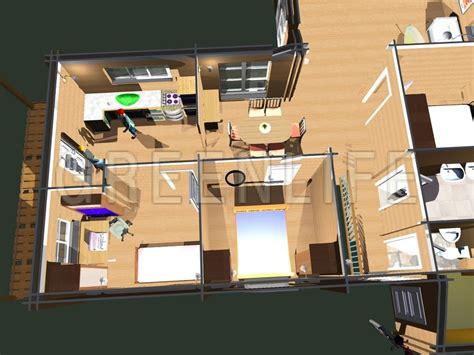 chambre vue de haut maison bois carla 100 maison bois greenlife