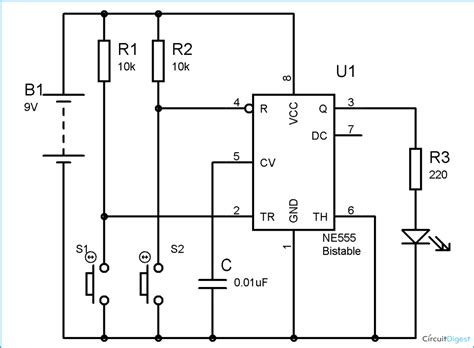 Timer Bistable Multivibrator Circuit Technology