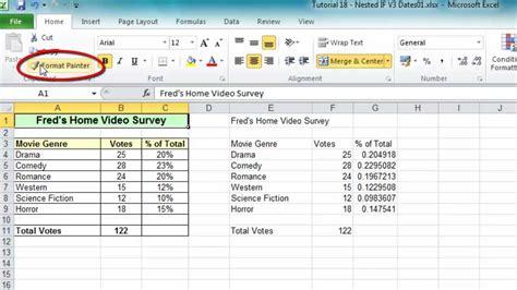 Format Exle by Excel Tip 006 Format Painter For Ranges Worksheets