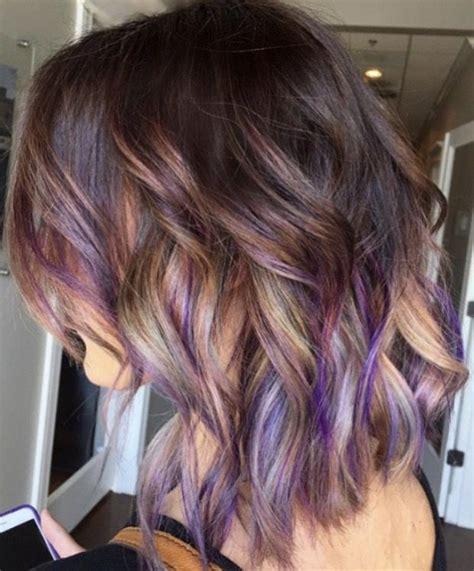 brown hair  purple grey  blonde purple brown