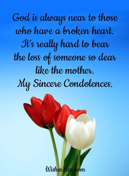 Sympathy Words Loss Mother