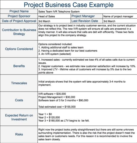 business justification template business justification template template