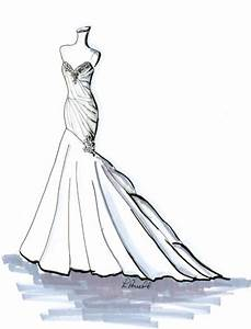 mermaid+gown+sketch | MERMAID GOWN | Gown Sketches | Pinterest