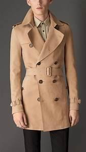 Trench Coat Burberry Homme : trench coat en nubuck burberry elegant coats pinterest homme l gant veste and mode homme ~ Melissatoandfro.com Idées de Décoration