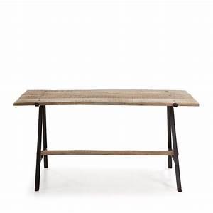 Table Bois Et Fer : table manger fer noir et bois de manguier aria by drawer ~ Teatrodelosmanantiales.com Idées de Décoration