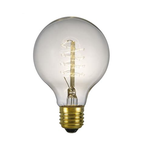 globe shaped vintage filament bulb for pendant light where