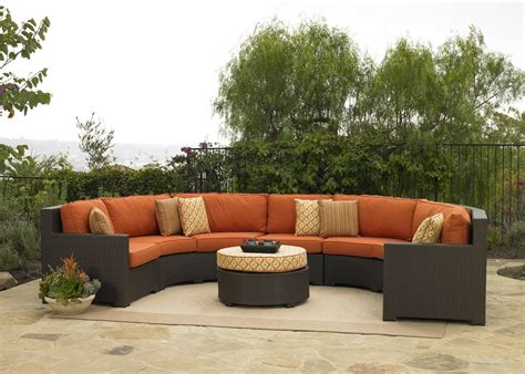 half circle outdoor furniture silver coast malibu 2 custom outdoor java wicker