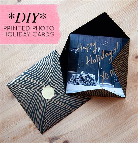 diy project printed picture holiday cards designsponge