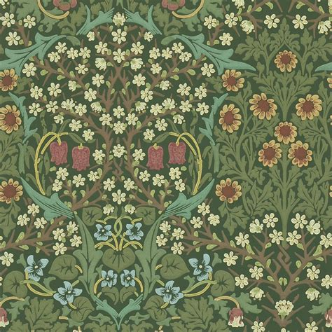 Blackthorn Wallpaper  Green (210409)  William Morris