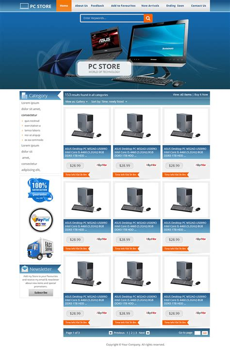 Ebay Storefront Templates Free by Advanced Ebay Store Listing Auction Html Templates Free