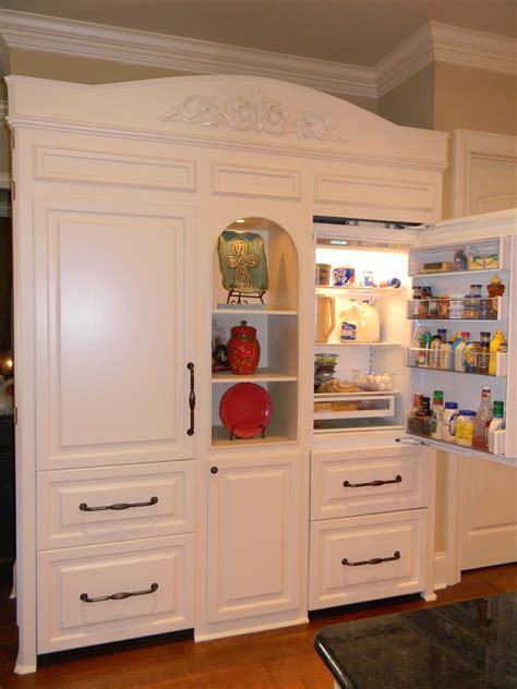 kitchen cabinets that look like furniture custom fridge built to look like furniture sub zero