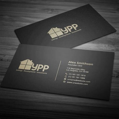 property development  investments company business card