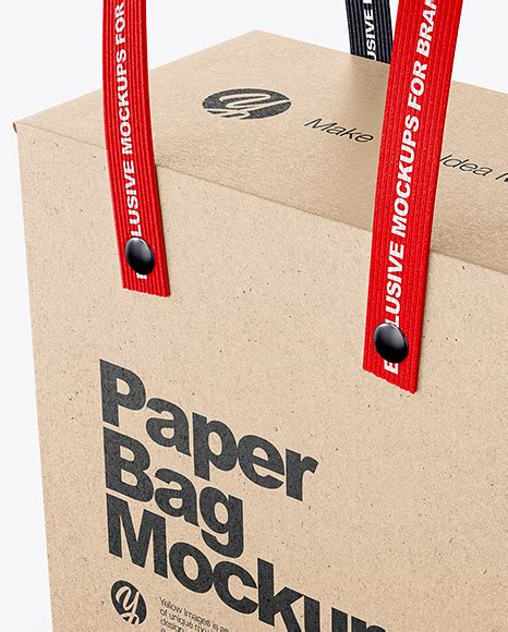 Please note, the 3d model is intentionally simplified and optimized for viewing in your browser. Kraft Paper Box Bag With Textile Handles Mockup Half Side ...