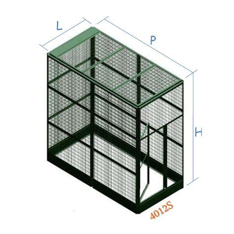 pannelli modulari per gabbie voliera zincata per esterno a pannelli modulari standard 4012s