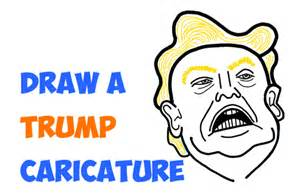 Steps How to Draw Donald Trump