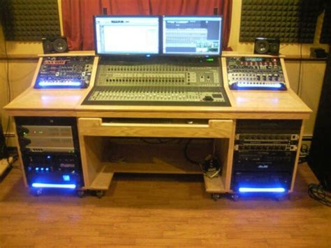 sound studio mixing table woodworking talk woodworkers