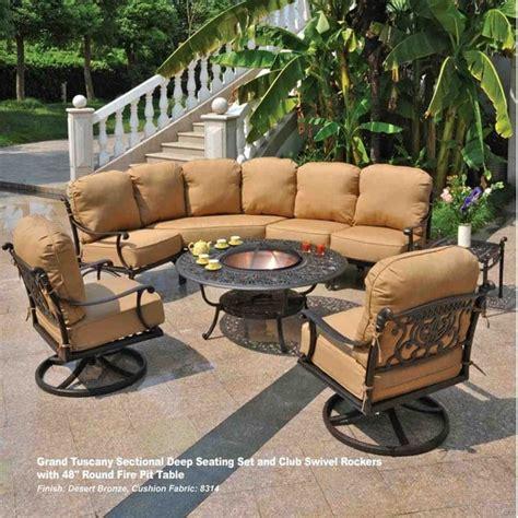 hanamint tuscany patio furniture grand tuscany sectional