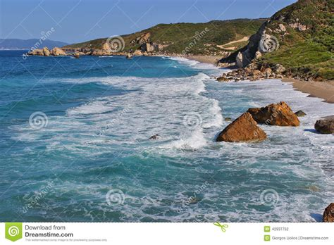 White Waves Stock Photo Image 42937752