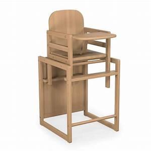 Chaise Haute Bébé Bois : chaise haute baby fox volutive bois vernis marron achat ~ Melissatoandfro.com Idées de Décoration