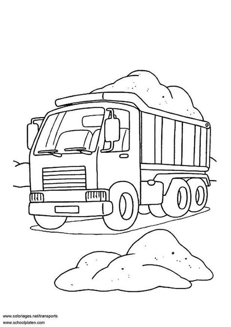 coloriage camion benne img  images