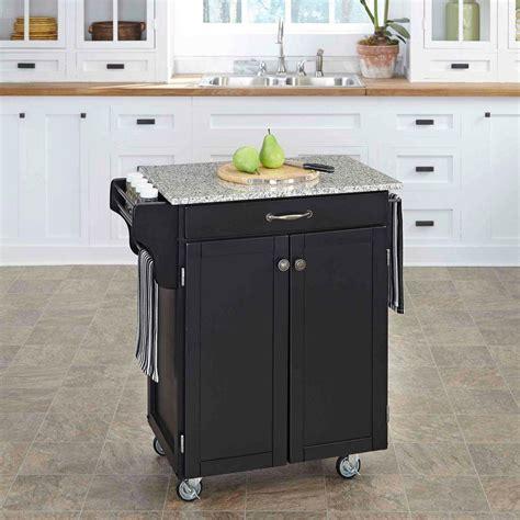shop kitchen islands home styles cuisine cart black kitchen cart with granite 2201