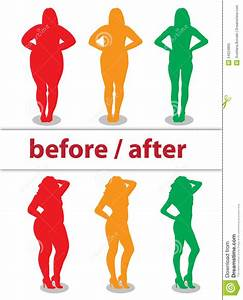 Girl before / after stock vector. Illustration of thin ...