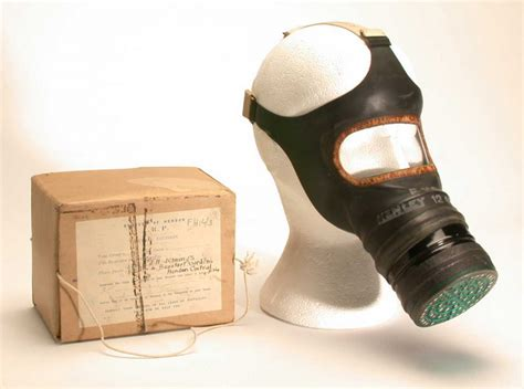adults gas mask world war ii original object lessons