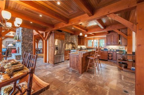 beautiful rustic kitchen interiors  rustic residence