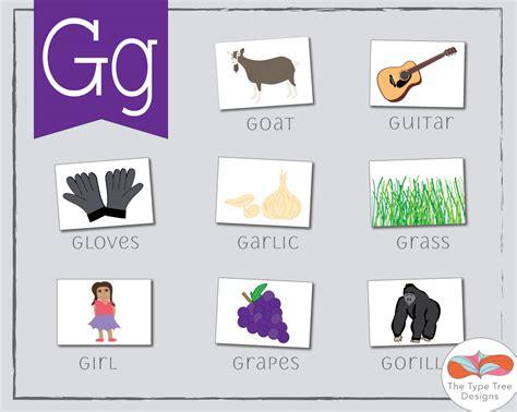 esl preschool the letter g the type tree designs 744 | g words 1 orig