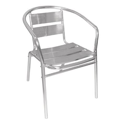 chaise terrasse fauteuils empilables en aluminium