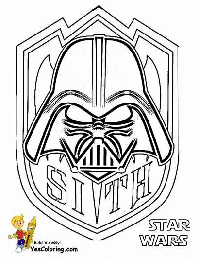 Wars Coloring Star Pages Darth Vader Sith