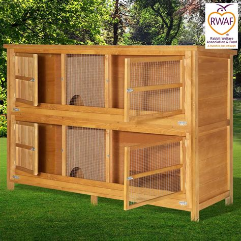 6ft rabbit hutches home and roost 6ft chartwell 2 tier rabbit hutch for